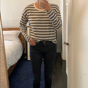 Everlane striped box long sleeve